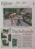 Dashshunds of Bronze - St. Louis Post Dispatch article