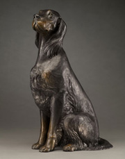 bronze Gordon Setter Sculpture