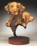 bronze Golden Retriever sculpture